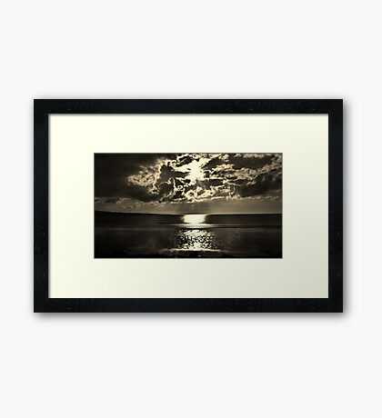 Angry Clouds Framed Print