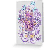 jakarta 24 hours Greeting Card