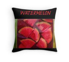 Lime, Watermelon and Lemon Throw Pillow