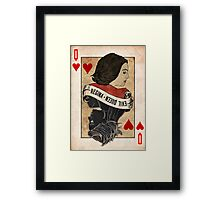 Queen of Hearts: Regina Mills Framed Print