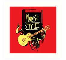 noise music is my style Art Print