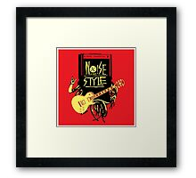 noise music is my style Framed Print