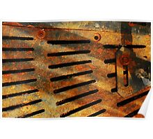 Rusted Grate Poster