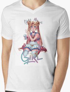 Like a Girl Mens V-Neck T-Shirt