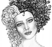 Girl With a Curl by BevChoy