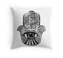 Hamsa - Amulet for Magical Protection & Good Luck. Throw Pillow
