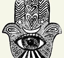 Hamsa - Amulet for Magical Protection & Good Luck. by wolfandbird