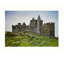 Rock of Cashel, Ireland (Carraig Phadraig) - oil painting Art Print