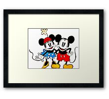 Mickey & Minnie Mouse  Framed Print