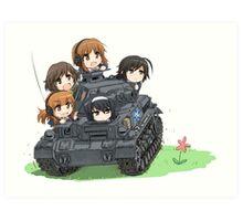 Girls und Panzer Art Print