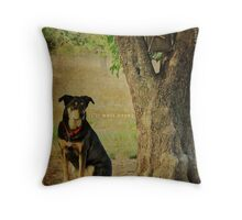 i'll wait here... Throw Pillow