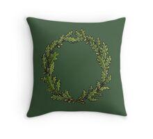 Oak Wreath Summer Throw Pillow