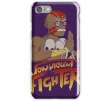 Non-Violent Fighter (dark color shirt) iPhone Case/Skin