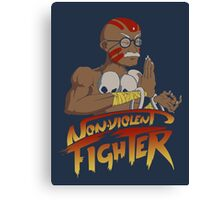 Non-Violent Fighter (dark color shirt) Canvas Print