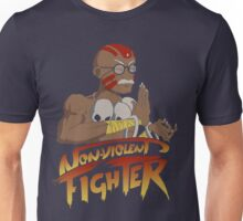 Non-Violent Fighter (dark color shirt) Unisex T-Shirt