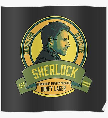 Brownstone Brewery: Sherlock Holmes Honey Lager Poster