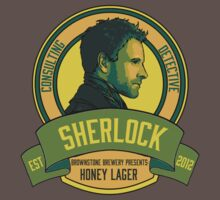 Brownstone Brewery: Sherlock Holmes Honey Lager by haileyheartless