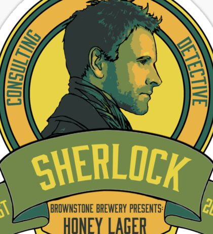 Brownstone Brewery: Sherlock Holmes Honey Lager Sticker