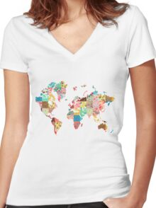 Be An Explorer Of The World Women's Fitted V-Neck T-Shirt