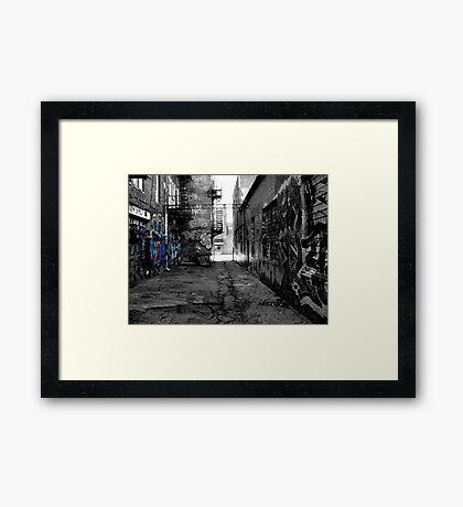 black and white graffiti Framed Print