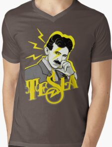 Tesla Mens V-Neck T-Shirt