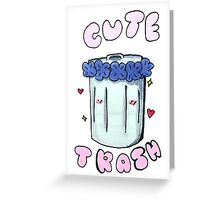 Cute trash Greeting Card