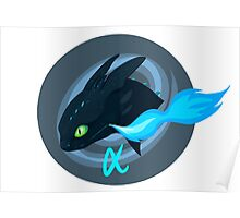 alpha toothless badge Poster