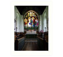 St Andrews Church, Wickhambreaux. Art Print