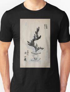 Yenshu ryu ikebana hiak bin no zu shiki konzatsu Flower arrangement in the Enshu style V2 1897 0020 T-Shirt