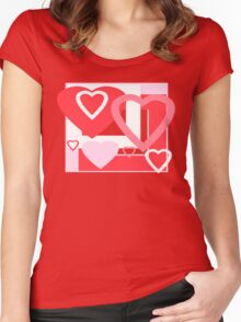VALENTINE HEARTS Women's Fitted Scoop T-Shirt
