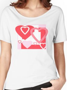 VALENTINE HEARTS Women's Relaxed Fit T-Shirt