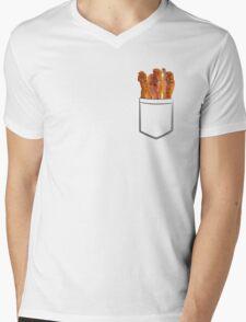 Bacon Pocket Mens V-Neck T-Shirt