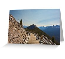 Walkway on Top of the World Greeting Card