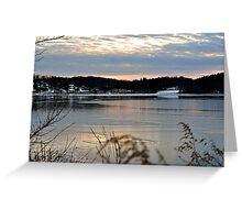 late winter afternoon Lake Gleneida Greeting Card