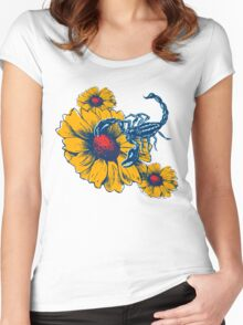 Scorpion Flowers Women's Fitted Scoop T-Shirt