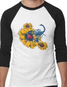 Scorpion Flowers Men's Baseball ¾ T-Shirt