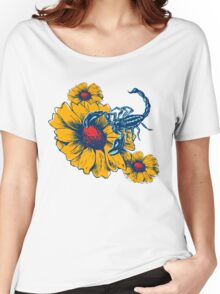 Scorpion Flowers Women's Relaxed Fit T-Shirt