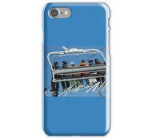 Six Men on a Ski Lift iPhone Case/Skin