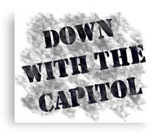 Down With the Capitol. Canvas Print