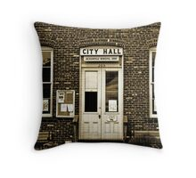 Jacksonville, Oregon, USA, City Hall circa 1880 Throw Pillow
