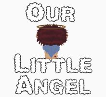 Our Little Angel Sitting on Cloud Red Head 2 Kids Tee