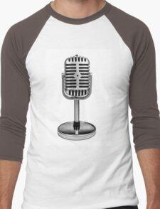 Retro Microphone Men's Baseball ¾ T-Shirt
