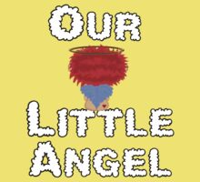 Our Little Angel Sitting on Cloud Red Head  Baby Tee