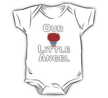 Our Little Angel Sitting on Cloud Red Head  One Piece - Short Sleeve