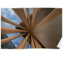 Pillars of Philharmonie Architectural Photograph for Sale Poster