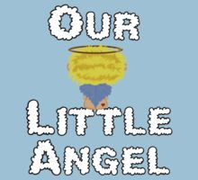 Our Little Angel Sitting on Cloud Blonde One Piece - Short Sleeve