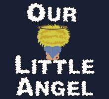 Our Little Angel Sitting on Cloud Blonde Kids Tee