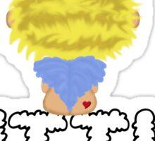 Our Little Angel Sitting on Cloud Blonde Sticker