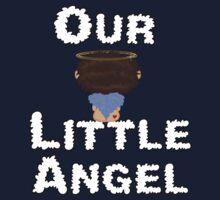 Our Little Angel Sitting on Cloud Brown Hair Kids Tee