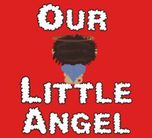 Our Little Angel Sitting on Cloud Brown Hair One Piece - Short Sleeve